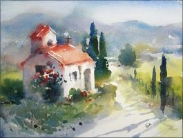 The Old Chapel by cmwatercolors