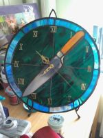 Stained Glass Clock by Gibbs3919