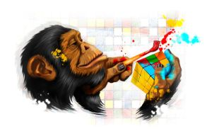 Chimp by dracoimagem-com