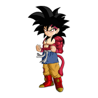 Goku Jr. SSJ4 by SpongeBoss
