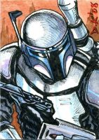 Jango Fett Sketch Card by DKuang