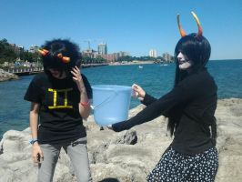 Sollux and Femzee by ArilaInsanityCosplay