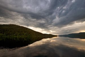 Clouds over Paanajarvi by khmaria