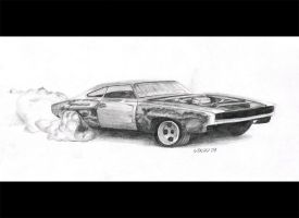 Dodge Charger burnout by STH-pl
