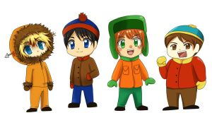 South Park Chibis by Graffiti2DMyHeart
