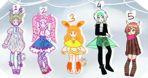 colorful adopts [1/5 OPEN] by hello-planet-chan