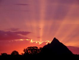 Sunset Over the Mountain by Rosary0fSighs