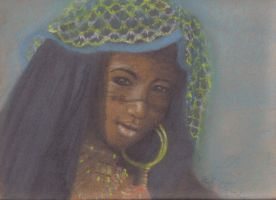 Wodaabe Girl from Niger by nightworks
