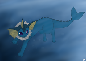 Vaporeon by BoWhatElse