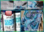 Painting Seiryu in water colors tutorial by mangakasan