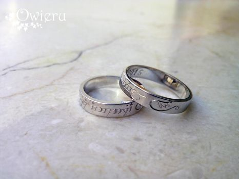 Elvish rings with personal symbol. by Nexogure