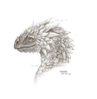 ice dragon. pencil by Liedeke