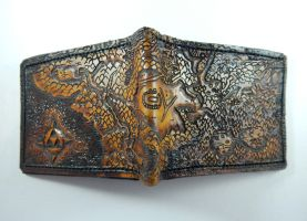 Ocarina Of Time map, Leather Wallet by Bubblypies