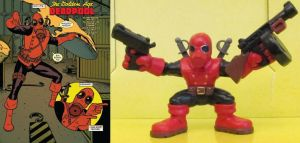 Golden Age Deadpool Custom Super Hero Squad by Deadpoolandfriends