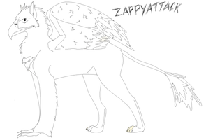 Free Griffin Lineart by ZappyAttack