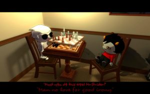 GMOD Homestuck - The Irony Chess by InvaderBlitzwing