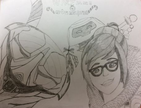 W.I.P Frost X Mei christmas by theFallenSENTIENT18