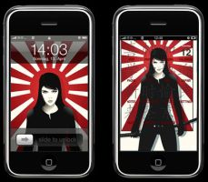 samurai iphone theme by elpanco