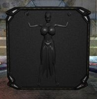 Slave Leia in Carbonite by Chup-at-Cabra