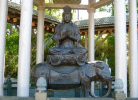 Buddha on Elephant by GlassHouse-1