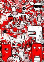 red monsters by onin07