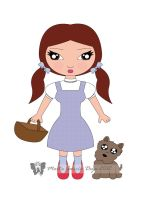 Dorothy from 'The Wizard of Oz' by martagd