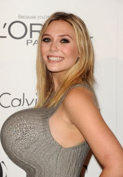 Elizabeth Olsen Breast Expansion by StarWarz1977