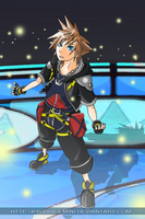 Kingdom Hearts: Sora by Kanokawa