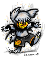 Halloween Ashpup by Ash-Dragon-wolf