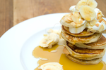Pancakes with Syrup and Banana by iconsPhotography