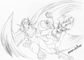:Midair Battle: by peanutchan