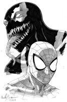 Spider-Man and Venom by ReillyBrown