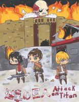 Attack on titan chibi project by KittyCatCaptain