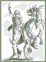 A Boy and His Dinosaur by soapdish