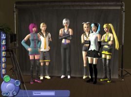 Vocaloid- The sims 2 by Irisaurus