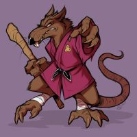 Splinter is a radical rat by SpunkyOunky