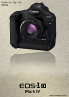Canon EOS 1D Mark IV Icon by made-Twenty9