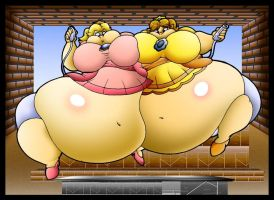 Fat Peach And Fat Daisy Love Wii. by Virus-20