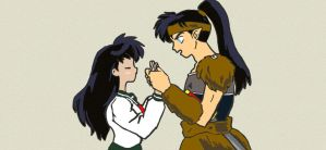 Kagome and Koga by Necrophilliacness
