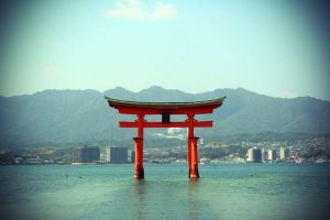 floating torii 3 by l337Jacqui