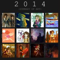 2014 Art Summary by moonshoespotter123