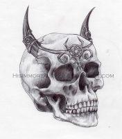 demon skull by HisImmortal1922