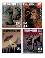Paranormal Stamps by Knackful