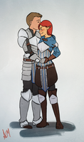 Commission: Rayna Surana and Alistair by FlockofFlamingos