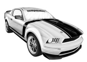 mustang black white v1 by cryingsoul85