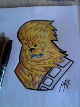 Chewbacca drawing and colors by Granamir30