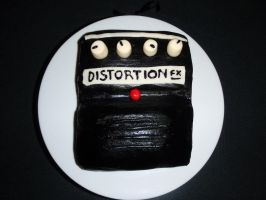 Distortion Pedal Cake by SarahMame