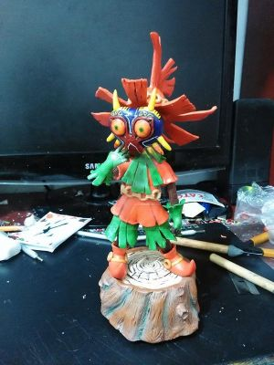 Skullkid wearing the Majora's mask by Magnusgramm