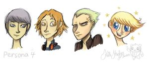 Persona 4 Boys Sketchums by Alias-Hugo