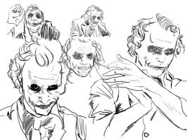 Joker sketches by youre-no-wave